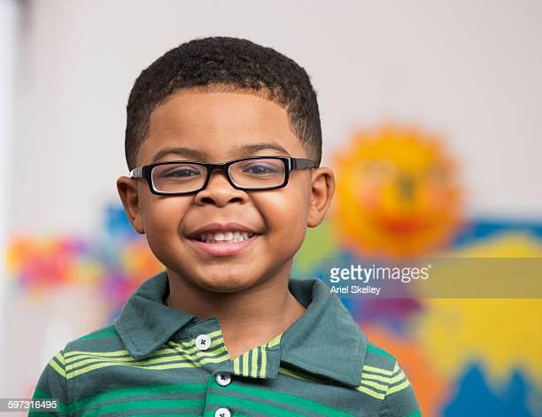 Black boy smiling