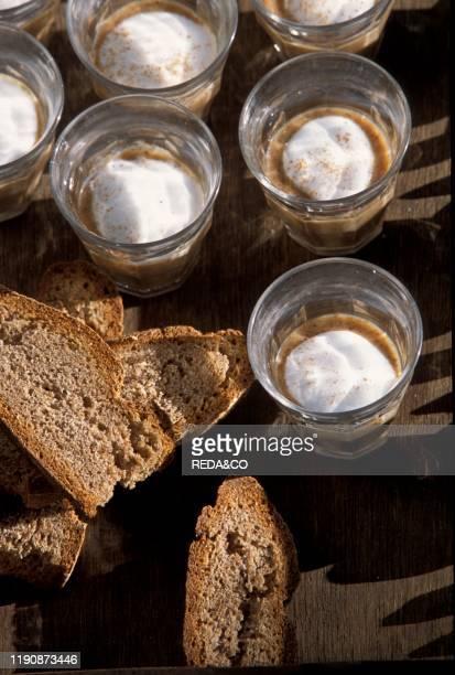 Black bread and Cappuccino Locanda Vecchia Miniera Ollomont Valle d'Aosta Italy