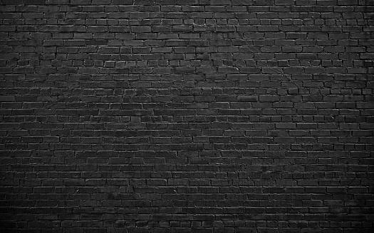 black brick wall, brickwork background for design 918375156