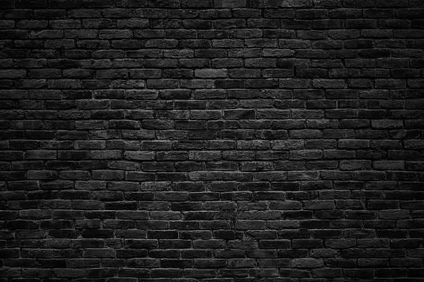Black Brick Wall Dark Background For Design