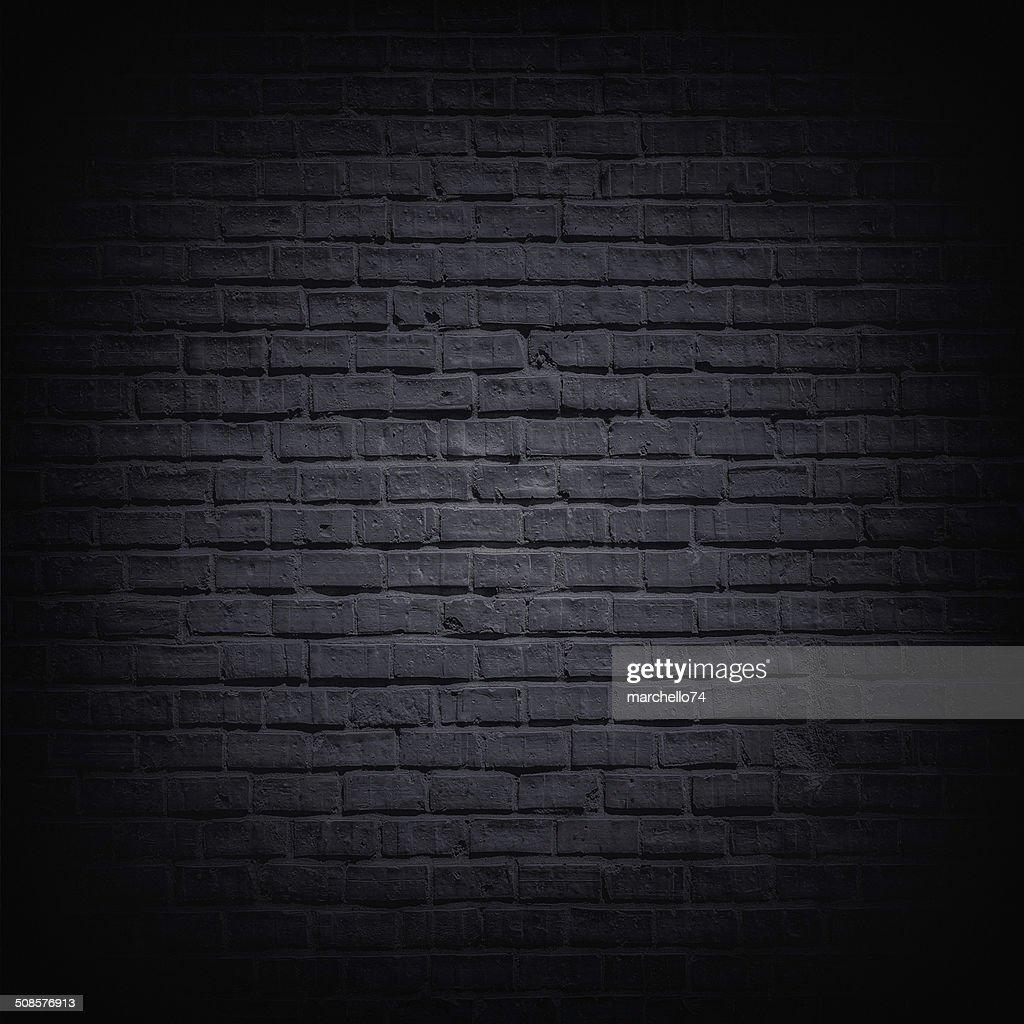 Black brick wall : Stock Photo