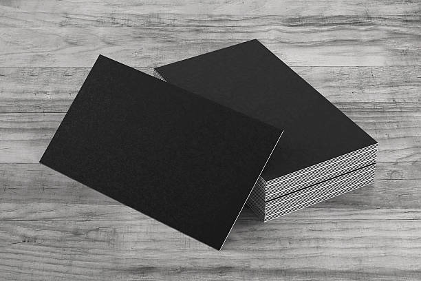 Free business card template images pictures and royalty free stock black business cards on on wood background reheart Images