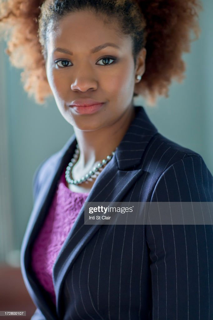 Black businesswoman in office : Stock Photo