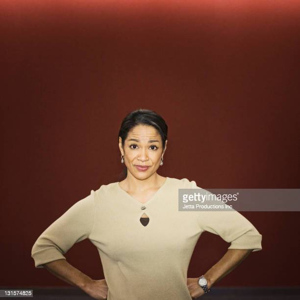 Black businesswoman with hands on hips
