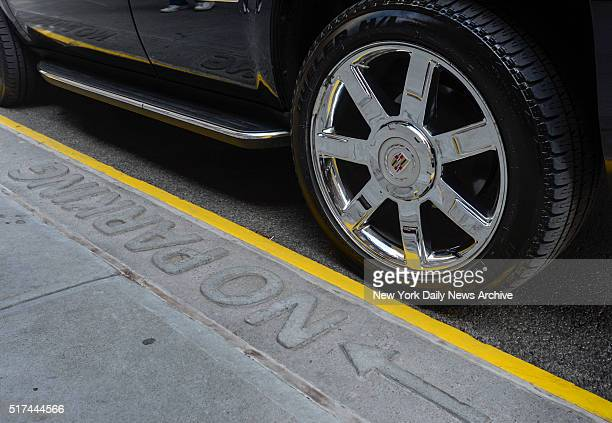 A black Cadillac Escalade parks in front of the residence of singer/actress Madonna in Manhattan on Thursday March 24 2016 City officials have...
