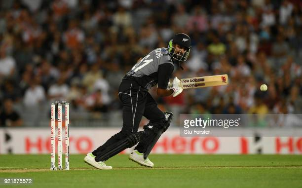 Black Caps batsman Ish Sodhi picks up some runs during the International Twenty20 Tri Series Final match between New Zealand and Australia at Eden...