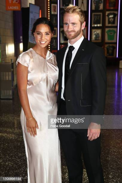 Black Caps captain Kane Williamson and wife Sarah Raheem arrive on the red carpet at the Halberg Awards at Spark Arena on February 13, 2020 in...