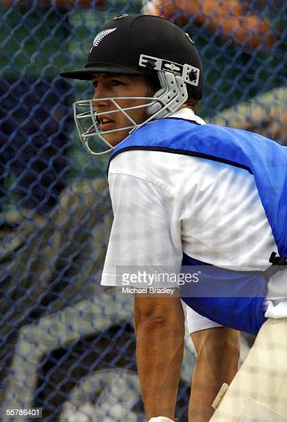 Black Caps wicket keeper Adam Parore gets in some batting pratice on the eve of the third test against England starting at Eden Park tomorrow Parore...