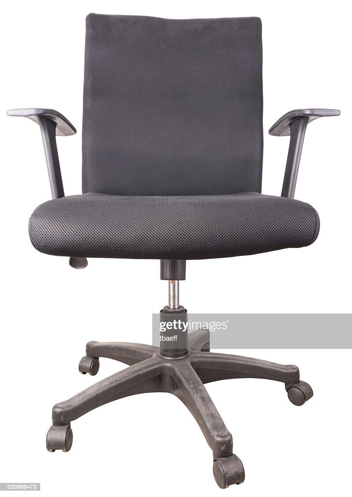 black chair isolated on white background : Stock Photo