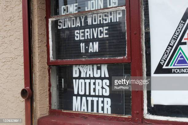 Black churches in Germantown push for black voting power in Philadelphia, PA on October 27, 2020.