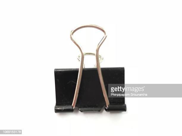 black clip and steel on with backgroud - binder clip stock pictures, royalty-free photos & images