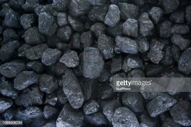 Black coal cob presented at Polish Pavilion during COP 24 the 24th Conference of the Parties to the United Nations Framework Convention on Climate...