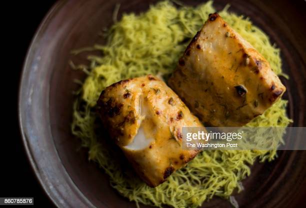 Black Cod over rice vermicelli served at Rasika in Washington DC on Wednesday December 2 2015