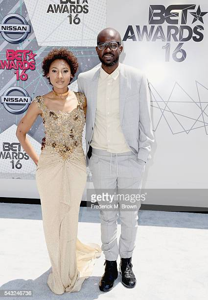 Black Coffee and Mbali Mlotshwa attends the 2016 BET Awards at the Microsoft Theater on June 26 2016 in Los Angeles California