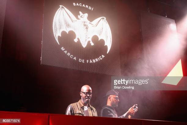 Black Coffee and Swizz Beatz perform at Bacardi X The Dean Collection Present No Commission Berlin on June 29 2017 in Berlin Germany