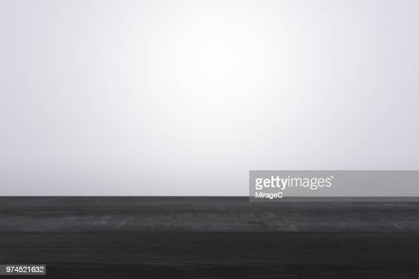 black colored wood surface level - copy space stockfoto's en -beelden