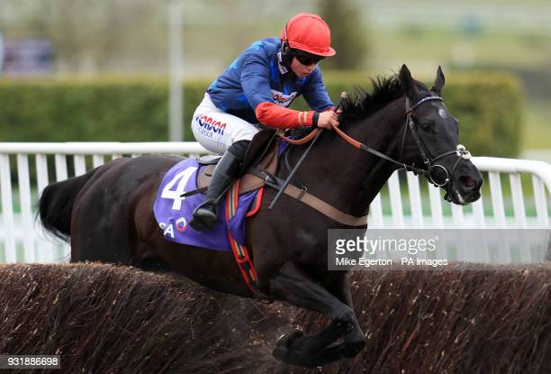 Black Corton ridden by Bryony Frost in the RSA Insurance Novices' Chase during Ladies Day of the 2018 Cheltenham Festival at Cheltenham Racecourse