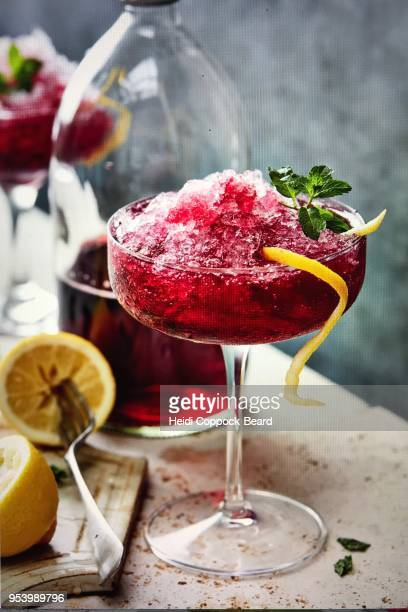 black currant crushed ice and lemon - heidi coppock beard fotografías e imágenes de stock