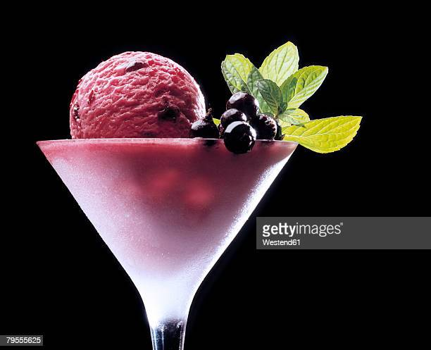black currant ice cream - sorbet stock pictures, royalty-free photos & images