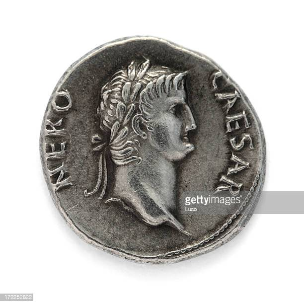 nero - denarius - emperor stock pictures, royalty-free photos & images