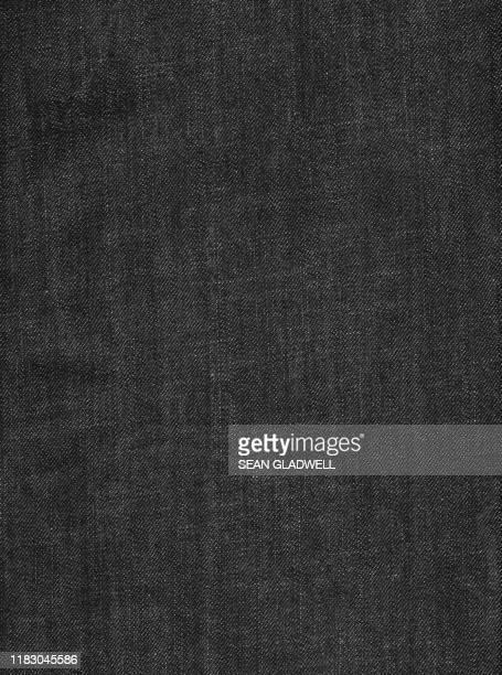 black denim texture - jeans photos et images de collection