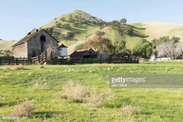 black diamond mines regional park landscape with old barn - east bay regional park stock pictures, royalty-free photos & images