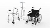 Black disability wheelchair