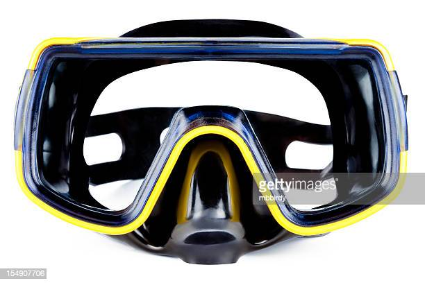 black diving mask - scuba mask stock pictures, royalty-free photos & images