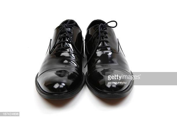 black dress shoes series - black shoe stock pictures, royalty-free photos & images