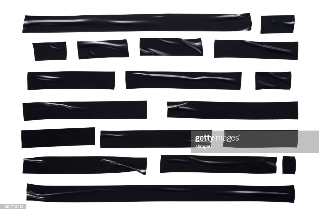 Black Duct Tape Stripes : Stock Photo