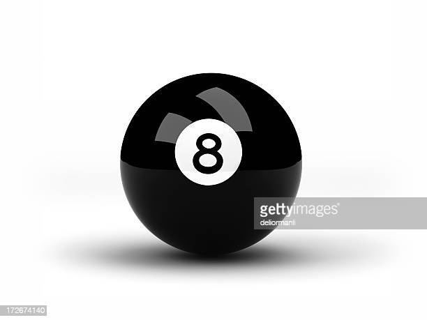 Black Eight pool ball