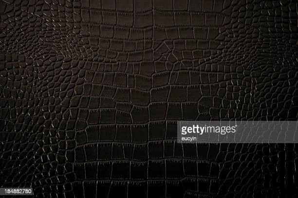 Black embossed leather texture background