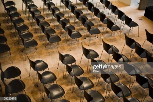 Black Empty Auditorium Chairs