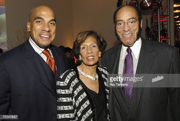 Black Enterprise's Executive Vice President Corporate Sales Michael A Graves his mother Barbara Graves and Earl G Graves Ltd Chairman and CEO Earl G...