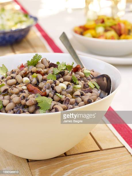 black eyed pea salad - black eyed peas food stock pictures, royalty-free photos & images