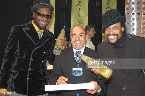 Black Eyed Peas and Giovanni The Margarita King during 2003 Billboard Music Awards Backstage Creations Gift Retreat Day 2 at MGM Grand Hotel And...