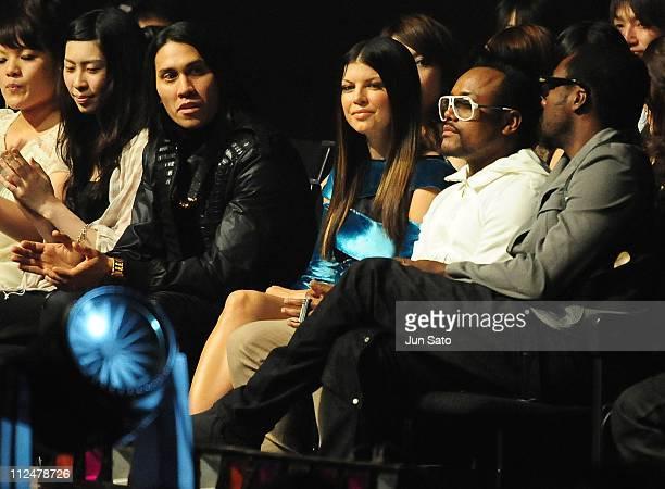 Black Eyed Peas are seen during the MTV Video Music Awards Japan 2009 at Saitama Super Arena on May 30 2009 in Saitama Japan
