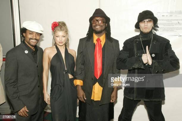 Black Eyed Peas attend the MTV Europe Music Awards 2003 on November 6 2003 in Edinburgh Scotland