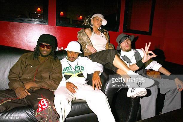 Black Eyed Peas backstage during Black Eyed Peas at the Vinyl Club at Vinyl Club in Hollywood California United States