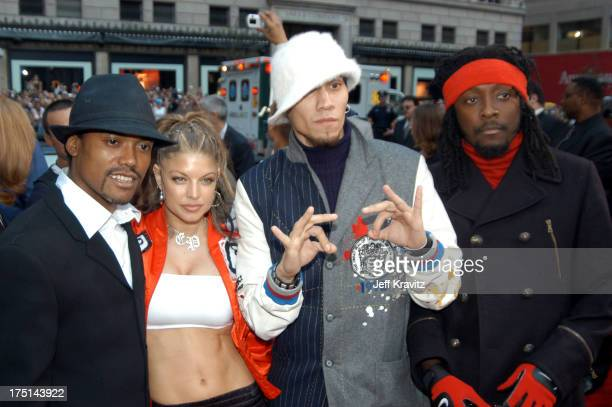 Black Eyed Peas during 2003 MTV Video Music Awards Arrivals at Radio City Music Hall in New York City New York United States