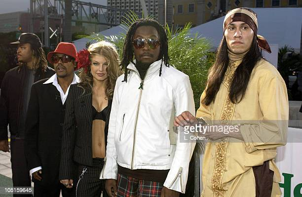 Black Eyed Peas during 4th Annual Latin GRAMMY Awards Heineken Green Carpet at American Airlines Arena in Miami Florida United States