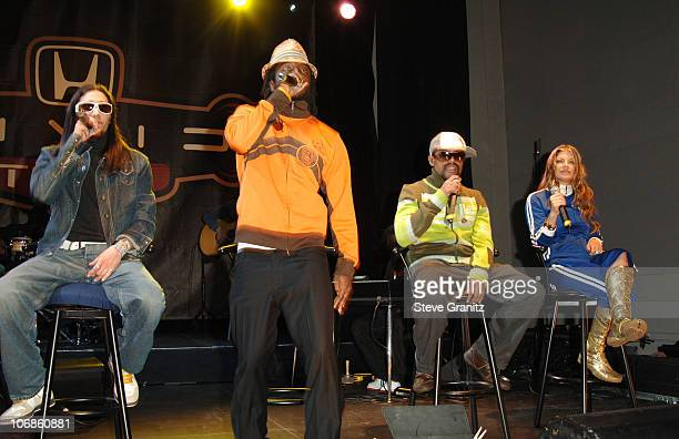 Black Eyed Peas during Black Eyed Peas Live Performance and Press Conference to Announce The 6th Annual Honda Civic Tour at Honda American...
