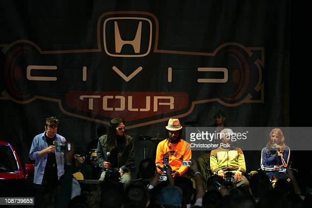 Black Eyed Peas during Honda Civic Tour Black Eyed Peas Press Conference January 6 2006 at Honda American Headquarters in Torrance California United...