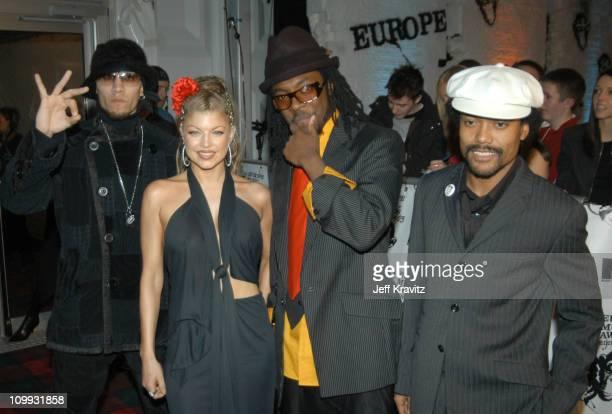 Black Eyed Peas during MTV Europe Music Awards 2003 Arrivals at Ocean Terminal Arena in Edinburgh Scotland