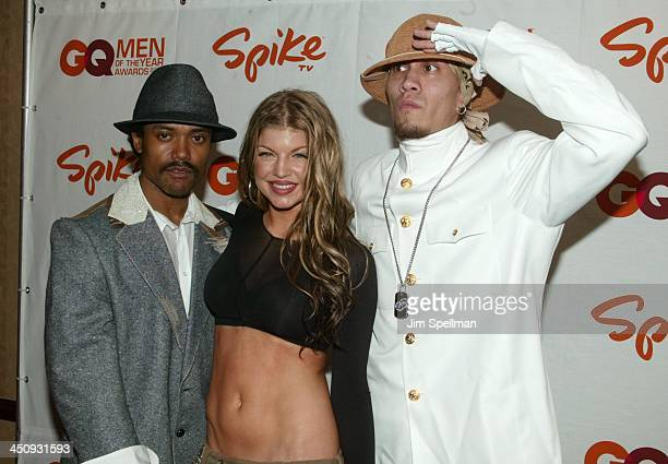 Black Eyed Peas during Spike TV Presents the 2003 GQ Men of the Year Awards Press Room at The Regent Wall Street in New York City New York United...