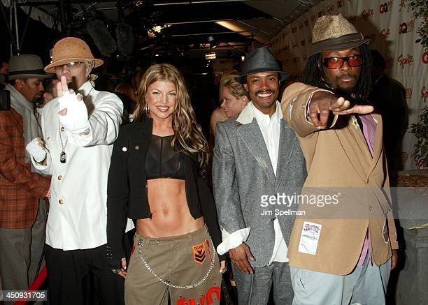 Black Eyed Peas during Spike TV Presents The 2003 GQ Men of the Year Awards Arrivals at The Regent Wall Street in New York City New York United States