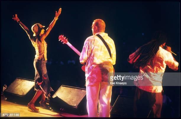 Black Eyed Peas Kim Hill performing on stage Pukkelpop Festival Hasselt Belgium 25th August 2000