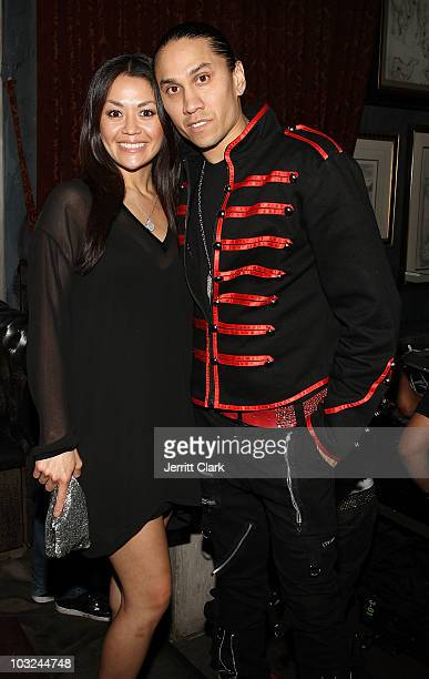 Black Eyed Peas member Taboo and wife Jaymie Dizon attend the Black Eyed Peas after party at Avenue on August 4 2010 in New York City