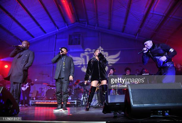 Black Eyed Peas perform onstage at william Hosts 8th Annual iam angel Foundation TRANS4M Gala Honoring Quincy Jones on February 12 2019 in Los...