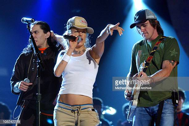 Black Eyed Peas performs with Juanes during 4th Annual Latin GRAMMY Awards Rehearsals Day 2 in Miami United States